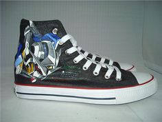 anime shoes Custom Gundam Seed anime shoes Gundam Seed Hand Painted Shoes Custom Shoes Custom Sneakers Hand Painted Converse Shoes