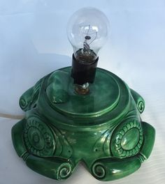 VTG Atlantic Mold Christmas Tree Base Only Green Ceramic Replacement Scroll #AtlanticMold