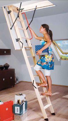 Escaleras plegables de altillo en madera - Ruimtebesparende mezzanine ...