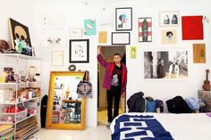 Photos by The Selby of artist, Curtis Kulig's home