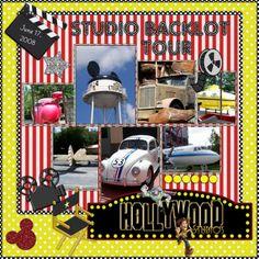 hollywood+studios+scrapbook+layouts | Studio Backlot Tour - MouseScrappers.com