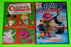 Kid-Holiday-DVD-Lot-2-Holiday-DVDs-New-Barney-Angelina-Ballerina-Thomas