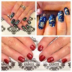 Nail art, shellac, beauty, blue, red, nail stamps, nail art, freehand nails, christmas