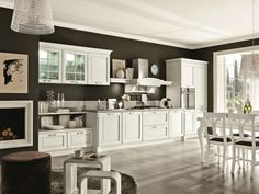 Classic style decapé solid wood kitchen DOLCEVITA by Stosa Cucine