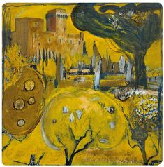 View A Snippet of Tuscany By Brett Whiteley; oil on paper; Access more artwork lots and estimated & realized auction prices on MutualArt. Australian Painters, Australian Artists, Art Market, Gouache, Van Gogh, Art For Sale, Tuscany, Art Sketches, Printmaking