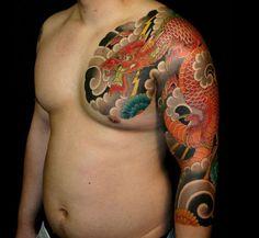 Artist: Luca Ortis #dragon #irezumi #tattoo