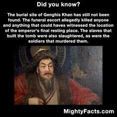 Genghis Khans burial site.