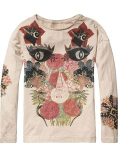 Photo Print T-Shirt | Jersey l/s tee's & tops | Girl's Clothing at Scotch & Soda
