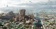 Overlook Planet Xander In New Scenic Concept Art For GUARDIANS OF THE GALAXY