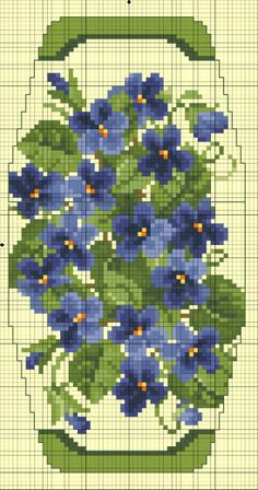 Cross-stitch Floral purse... no color chart available, just use pattern chart as your color guide.. or choose your own colors... Gallery.ru / Фото #8 - Сумочка игольница - Gultiera1851