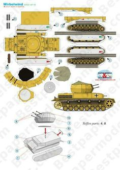 IV Wirbelwind in scale Paper Car, Paper Plane, Paper Toys, Paper Aircraft, Wallpaper Crafts, Free Paper Models, Pokemon Collection, Craft Free, Paper Folding