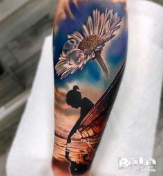 3 colors realistic tattoo by bolo art tattoo Tattoos 3d, Arm Sleeve Tattoos, Dope Tattoos, Great Tattoos, Unique Tattoos, Beautiful Tattoos, Flower Tattoos, Body Art Tattoos, Tattoos For Guys
