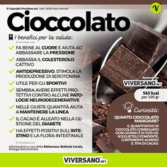 Cioccolato: calorie, proprietà, curiosità, benefici ed effetti negativi Dark chocolate is good in many ways: in the cardiovascular system, in mood and on the palate. ✅ Discover properties and benefits Chocolate Calories, Love Natural, Greens Recipe, Nutrition Information, Creative Food, Superfood, Healthy Tips, How To Lose Weight Fast, Natural Health