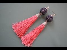 I live tge beaded bead, I wouldn't wear the tassels as earrings. I might possibly add a beaded fringe. The tassel would work for a pendant for me. Серьги-кисти из бисера. Ажурная бусина. Бисероплетение. Мастер класс - YouTube
