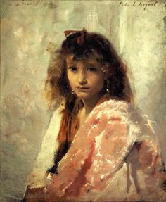 Carmela Bertagna by John Singer Sargent, circa 1879  - oil on canvas