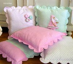 I love sewing ^_^ Cute Cushions, Cute Pillows, Baby Pillows, Throw Pillows, Cushion Covers, Pillow Covers, Sewing Crafts, Sewing Projects, Sewing Pillows