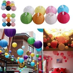4 6  8  10  12  14  16  20  Round Chinese Paper Lantern Lamp Wedding Party Decor
