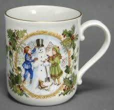 Bildresultat för royal worcester christmas mugs