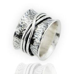0bf6aed2f Stříbrný prsten Ag 925/1000 s patinou, protáčecí / Zboží prodejce Atelier  Magnolia. PrstenySnubní ...