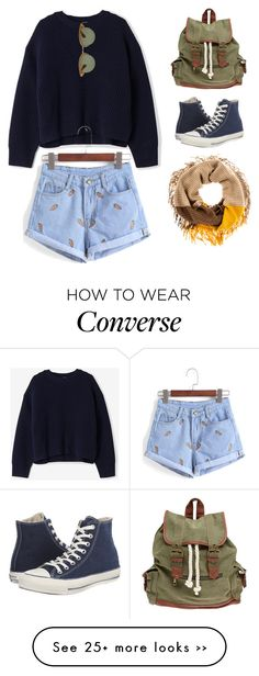"""""""Senza titolo #106"""" by erisworld on Polyvore featuring Wet Seal, Converse, Acne Studios and Oliver Peoples"""