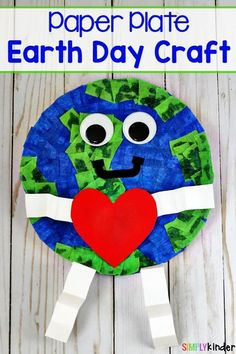 Paper Plate Earth Day Craft, Earth Day Craft, Paper Plate Craft, Earth Day Kids Crafts, Toddler Crafts, Preschool Crafts, Arts And Crafts, Earth Day Tips, Earth Day Projects, Projects For Kids, Art Projects, Sewing Projects