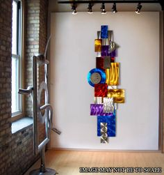 Large Modern Metal Abstract Wall Art / Dimensional Assemblage by Jon Allen. $495.00, via Etsy.