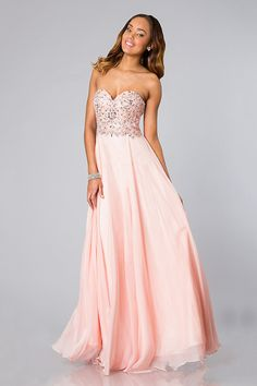 Beautiful Pearl Pink Floor-Length Sweetheart Chiffon Zipper A-line Prom Dress