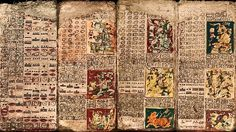 Pages from the Dresden Codex, a pre-Columbian Maya book of the eleventh or twelfth century of the Yucatecan Maya in Chichén Itzá. This Maya . Ancient Art, Ancient History, Art History, Mayan History, Ancient Ruins, Maya Civilization, Mesoamerican, Mayo, Antique Books