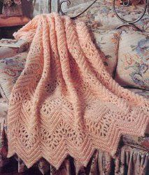 The Victorian Lace Afghan is feminine and pretty. Intermediate crochet patterns like this one are elegant and popular in just about any home.