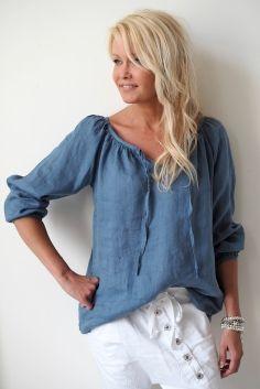 CINDY Linen blouse, JEANS