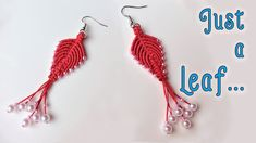 Macrame earrings tutorial: The phoenix leaf jewelry set - hướng dẫn thắt hoa tai
