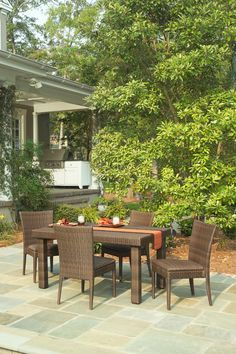 5-pc Outdoor All-Weather Wicker Dining Set | Whitecraft Furniture | Home Gallery Stores