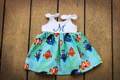 #Dory #Nemo dress Girls Dress #Disney inspired by ShelbyJaneandCo