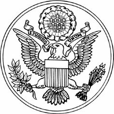 1000 images about printable coloring activity pages on for United states seal coloring page