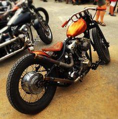 Shovelhead bobber motorcycle