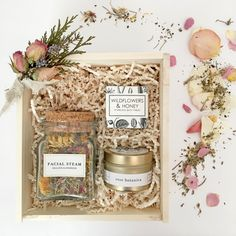 Men Box Loved and Found Wildflowers Box. Spa Gift Box for Her.Loved and Found Wildflowers Box. Spa Gift Box for Her. Gift Hampers, Gift Baskets, Raffle Baskets, Holiday Gifts, Christmas Gifts, Curated Gift Boxes, Gift Box Packaging, Diy Gift Box, Client Gifts