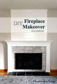 diy fireplace makeover in one weekend under 100, diy, fireplaces mantels, painting, wall decor
