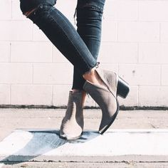 suede booties #jeffreycampbell #freepeople