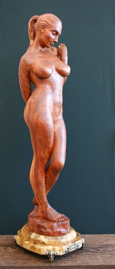 "Kvitka Anatoly ~ ""Eva"" ~ Wood sculpture Profil"