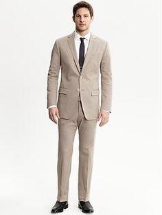 BR Monogram stretch cotton two-button suit blazer | Banana Republic