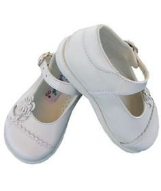 Girl leather white Mary Janes shoes
