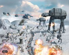 STAR WARS - vehicles hoth - Europosters