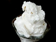 mr. softee-style vanilla bean soft serve -- Let your ice cream thaw to the point of melting before serving; the gelatin will keep it from turning into soup.    Tahitian vanilla beans are especially light and fragrant, and perfect for this ice cream. But you'll still get awesome flavor and texture with another vanilla variety, or vanilla extract.