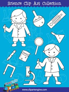 Science Line Art - Included in the Science Clip Art Collection