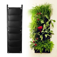 AmazonSmile : 8-pocket Vertical Garden Planter, Top Quality ECO-friendly recycled materials, Waterproof for mess-free Indoor & Outdoor use, Premium Strong & Durable Felt for Excellent Irrigation, Easy to Hang & Fill. The Best Woolly Pocket Urban Garden for Your Plants to Grow & Thrive in - Replacement Guarantee. : Patio, Lawn & Garden