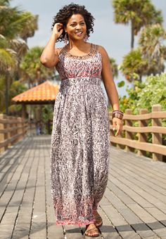 I love this dress, looks so comfortable, from Catos.