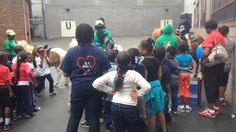 Middle School Pony Rides at their field day.