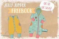 Ihr wollt eurem Nachwuchs einen Strampler oder Schlafanzug nähen? Oder vielleicht doch lieber einen Overall oder Draußenanzug? Mit dem Jolly Jumper könnt ihr all das realisieren! Und das Beste: Gr. 50 und Gr. 56/62 gibt es als FREEBOOK inkl. Schnittmuster!