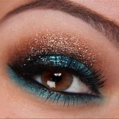 Beautiful teal and copper/brown