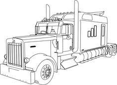 Semi+Truck+Coloring+Pages | truck,coloring,picture,road ...